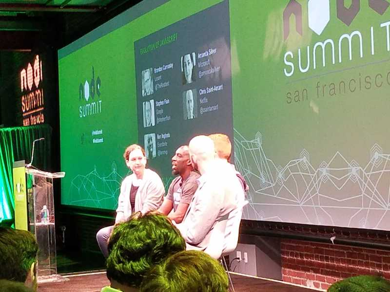 Ben Ilegbodu in a panel at NodeSummit 2016